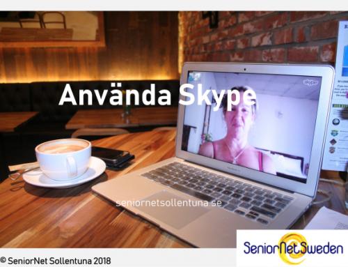Kommunicera med Skype